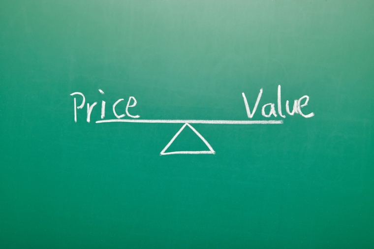 Price Value Balance on blackboard